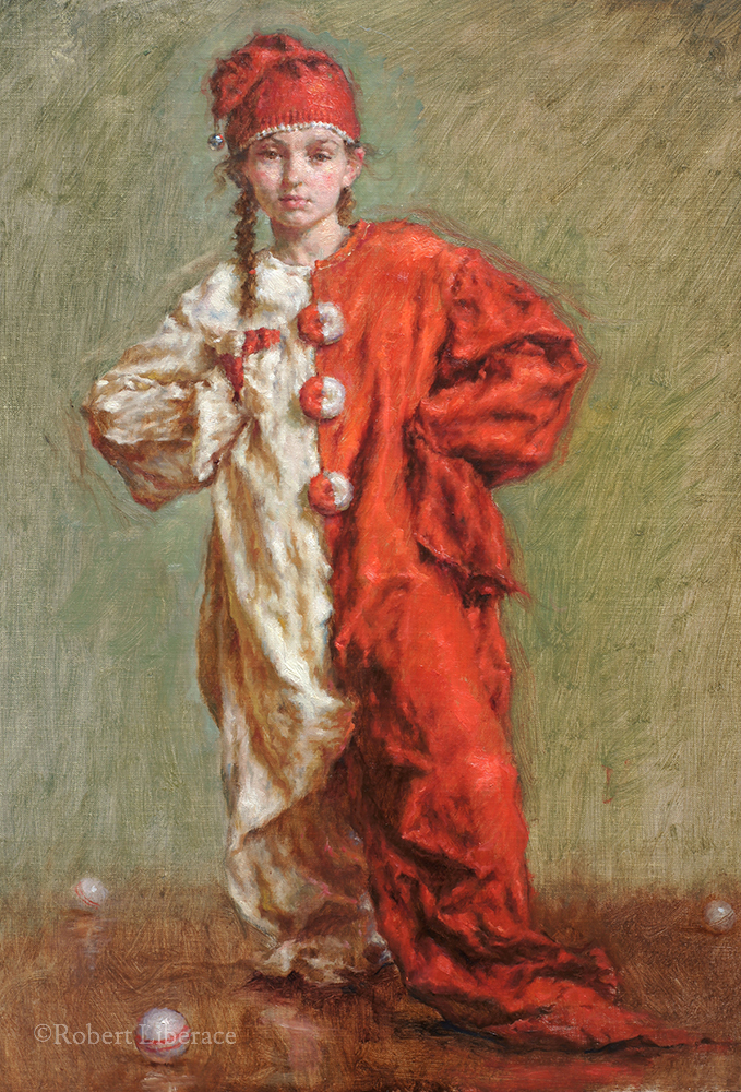 Robert Liberace, The Little Juggler, oil-on-canvas