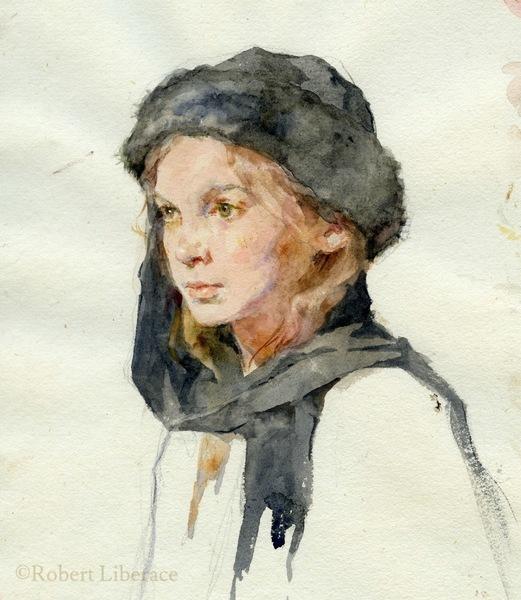 Robert Liberace, Celia-Watercolor