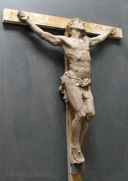 Robert Liberace, Crucifix study, terra-cotta